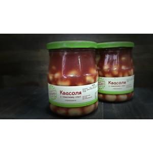 Фасоль консервированная в томатном соку
