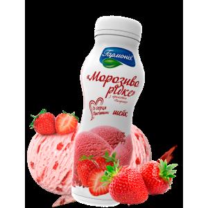 Жидкое мороженое с ароматом клубники, 300г, 3%