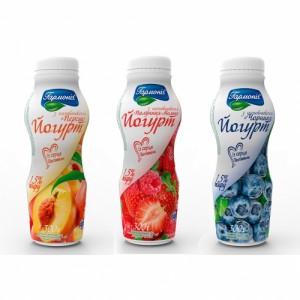 Йогурт с фруктовым наполнителем, 1.5%, 300г